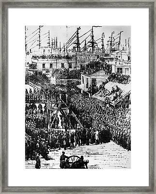Vigilante Lynching, 1856 Framed Print by Granger