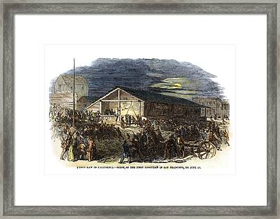 Vigilantes, 1851 Framed Print by Granger