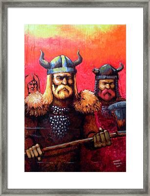 Vikings Framed Print by Edzel marvez Rendal