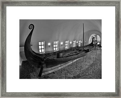 Vikingship Framed Print by A A