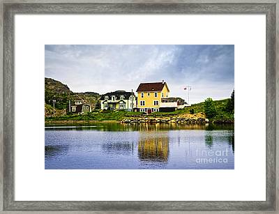 Village In Newfoundland Framed Print by Elena Elisseeva