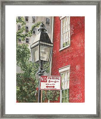 Village Lamplight Framed Print by Debbie DeWitt
