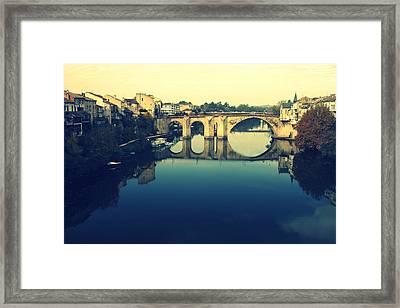 Villeneuve Sur Lot's River Framed Print by Georgia Fowler