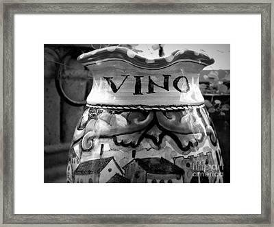 Vino Framed Print by Tanya  Searcy