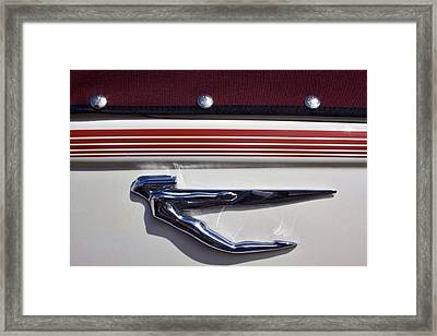 Vintage Auburn Automobile Mascot Framed Print by Carol Leigh