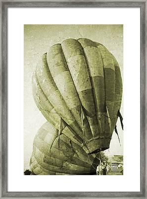 Vintage Ballooning II Framed Print by Betsy Knapp