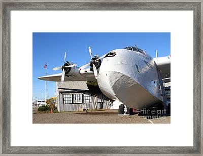 Vintage Boac British Overseas Airways Corporation Speedbird Flying Boat . 7d11276 Framed Print by Wingsdomain Art and Photography