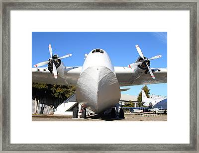 Vintage Boac British Overseas Airways Corporation Speedbird Flying Boat . 7d11278 Framed Print by Wingsdomain Art and Photography