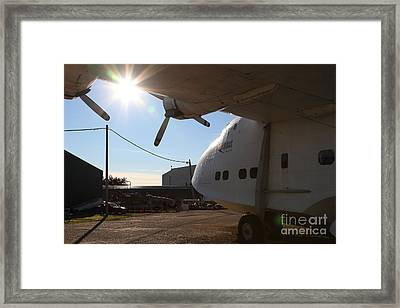 Vintage Boac British Overseas Airways Corporation Speedbird Flying Boat . 7d11284 Framed Print by Wingsdomain Art and Photography