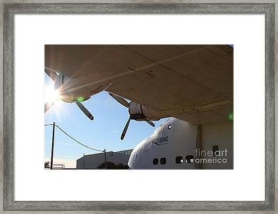 Vintage Boac British Overseas Airways Corporation Speedbird Flying Boat . 7d11286 Framed Print by Wingsdomain Art and Photography