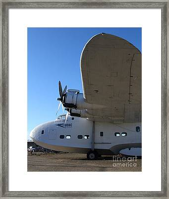 Vintage Boac British Overseas Airways Corporation Speedbird Flying Boat . 7d11290 Framed Print by Wingsdomain Art and Photography