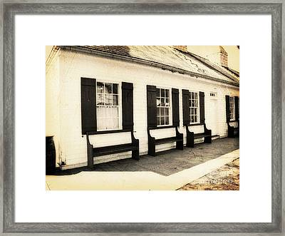 Vintage Building 2 Framed Print by Emily Kelley