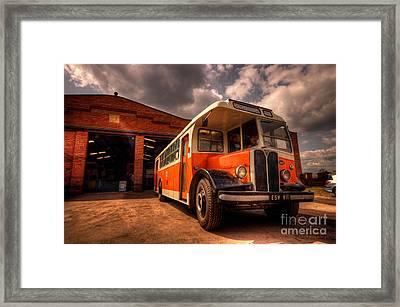 Vintage Bus  Framed Print by Rob Hawkins
