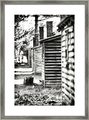 Vintage Cabins Framed Print by John Rizzuto