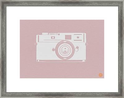 Vintage Camera Poster Framed Print by Naxart Studio