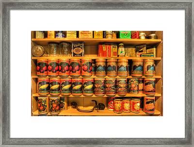 Vintage Canned Goods - General Store Vintage Supplies - Nostalgia Framed Print by Lee Dos Santos