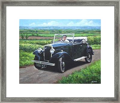 Vintage Car Austin 7 Framed Print by Martin Davey