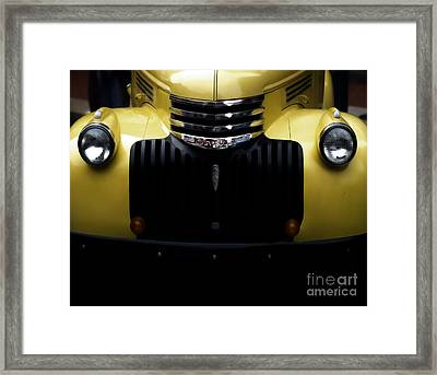 Vintage Chevy Pickup Truck Framed Print by Steven  Digman