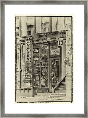 Vintage Cigar Store II Framed Print by David Patterson