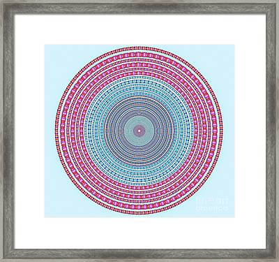 Vintage Color Circle Framed Print by Atiketta Sangasaeng