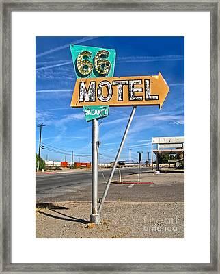 Vintage Desert Motel Sign Framed Print by Gregory Dyer