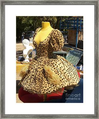 Vintage Dress At Flea Market Framed Print by Lainie Wrightson