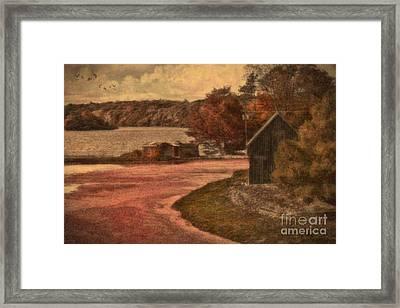 Vintage Farm Framed Print by Gina Cormier