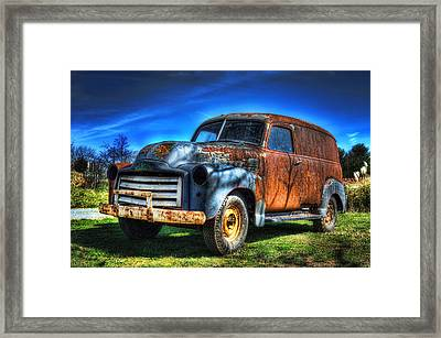 Vintage Gmc Framed Print by Steve Hurt