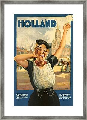 Vintage Holland Framed Print by Georgia Fowler