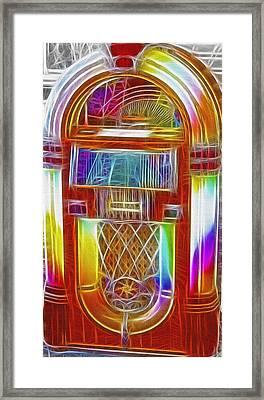 Vintage Jukebox - Fractal Framed Print by Steve Ohlsen