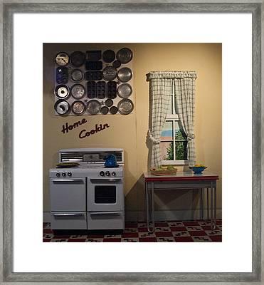 Vintage Kitchen 1 Framed Print by Douglas Barnett