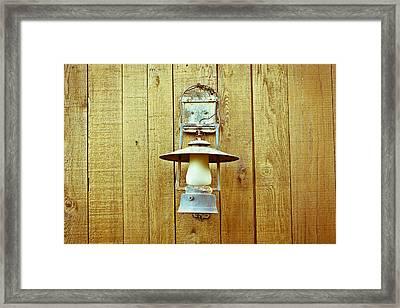 Vintage Lamp Framed Print by Tom Gowanlock