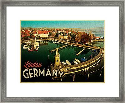 Vintage Lindau Germany Framed Print by Flo Karp