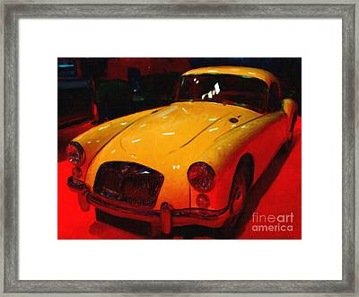Vintage Mg Framed Print by Wingsdomain Art and Photography