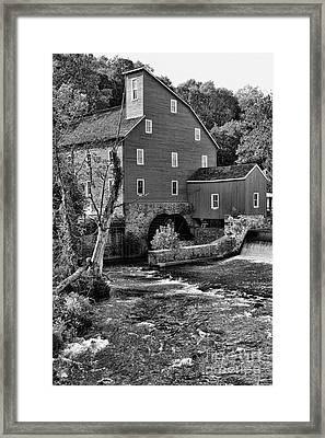 Vintage Mill In Black And White Framed Print by Paul Ward