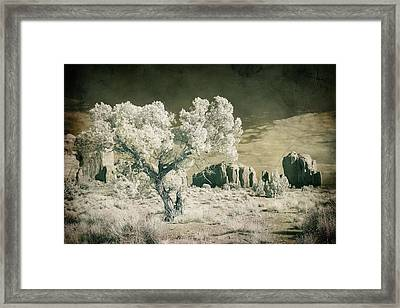 Vintage Monument Valley Desert Framed Print by Mike Irwin