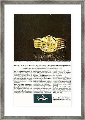 Vintage Omega Watch Framed Print by Georgia Fowler