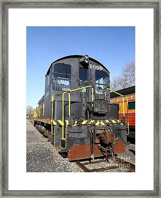 Vintage Railroad Trains In Old Sacramento California . 7d11591 Framed Print by Wingsdomain Art and Photography