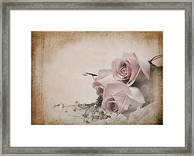 Vintage Roses Framed Print by Trudy Wilkerson