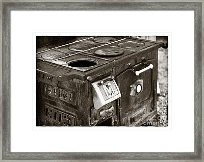 Vintage Stove Framed Print by John Rizzuto