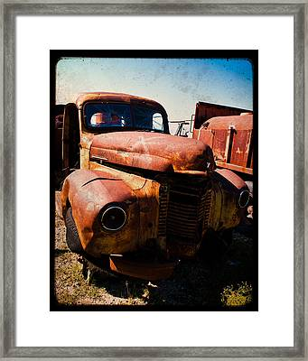 Vintage Truck In Ttv Framed Print by Sonja Quintero