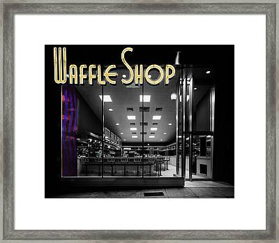 Vintage Waffle Shop Framed Print by Andrew Fare