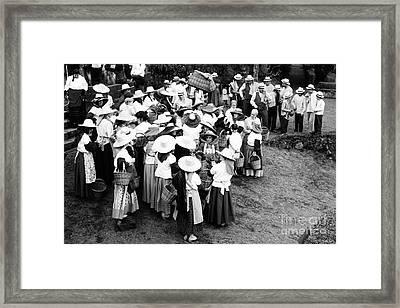 Vintage Workers Framed Print by Gaspar Avila