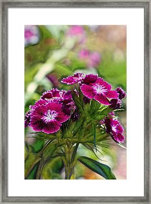Violet Floral Imressions Framed Print by Bill Tiepelman