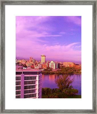 Violet Sky Framed Print by Melissa Cruz