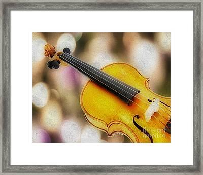 Violin Framed Print by Cheryl Young