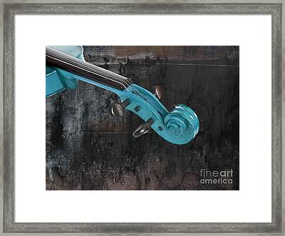Violinelle - Turquoise 05a2 Framed Print by Variance Collections