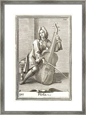 Violoncello, 1723 Framed Print by Granger