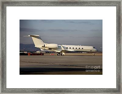 Vip Jet C-37a Of Supreme Headquarters Framed Print by Timm Ziegenthaler