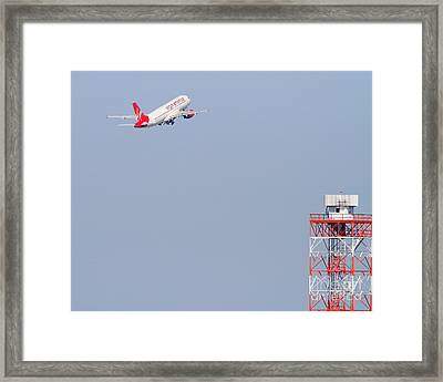 Virgin America Airlines Jet Airplane At San Francisco International Airport Sfo . 7d11915 Framed Print by Wingsdomain Art and Photography